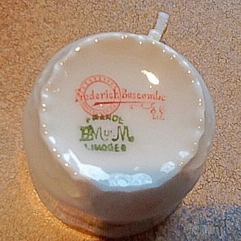 Limoges demitasse teacup & saucer clearer picture of bottom marking