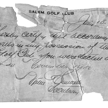 Francis Ouimet with 4 golf players and caddys 1914 - Photographs