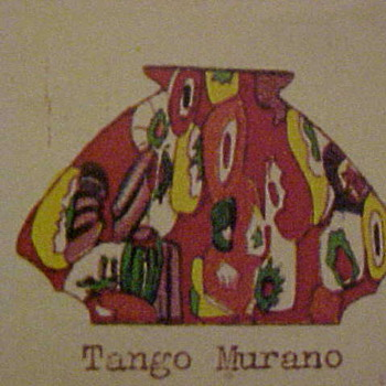 Antonin Rückl & Sons ca 1931 Catalog Decors: Tango Murano, Kristall Murano, & Decor 12528 - Plus a Ruckl Tango Ball Vase - Art Glass