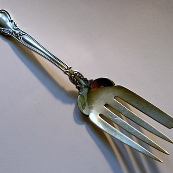 Can you ID sterling fish fork?  (Gorham beef serving fork) - Silver