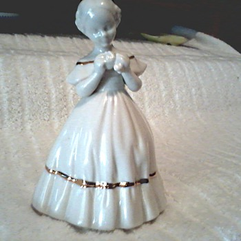 Bavarian Style Porcelain / Victorian Girl Figurine / Circa 1950's 60's - Figurines