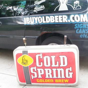 Cold Springs eternal (MN outdoor beer sign)