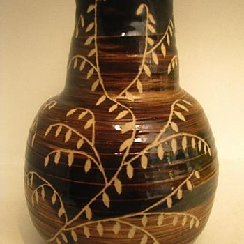 Vintage Stoneware Folk Art Storage Crock