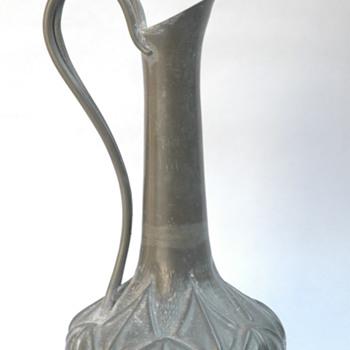 Pewter Wine Jug (I think) by A.E. Chanal, France, circa 1920ish - Art Deco