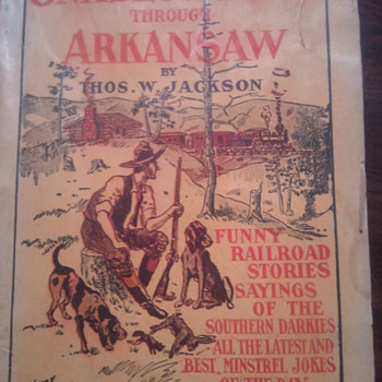 Old Railroad book with stories and jokes - Books
