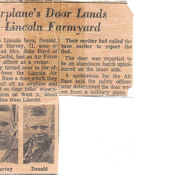 Around 1958 Flying Saucers around Lincoln Nebraska,  True!! Lincoln Journal Newspaper, My brother and Me!