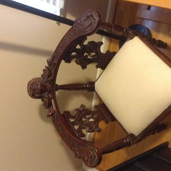Carved antique corner chair