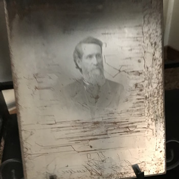 Original Steel Engraved Photo Plate of US Senator Issac Stephenson - Photographs