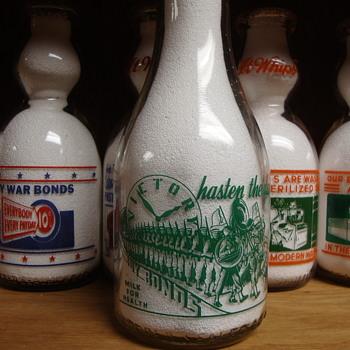 ROSEDALE DAIRY...LARAMIE WYOMING WAR SLOGAN MILK BOTTLE - Bottles