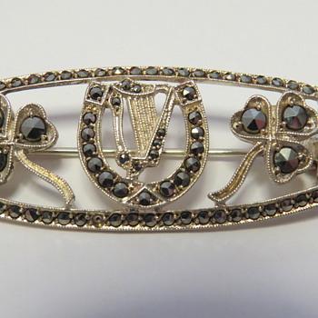 Silver Marcasite Brooch- German made