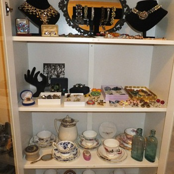 My Cabinet Full of Vintage Jewellery and Tea cups - Costume Jewelry