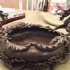 Late 1800 Chinese bronze Dragon bowl.