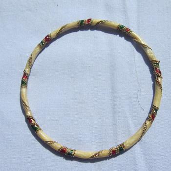 Cloisonne Bangle - Costume Jewelry