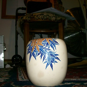 signed Japanese vase  - Asian