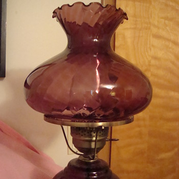 Plum hurricane lamp - Lamps