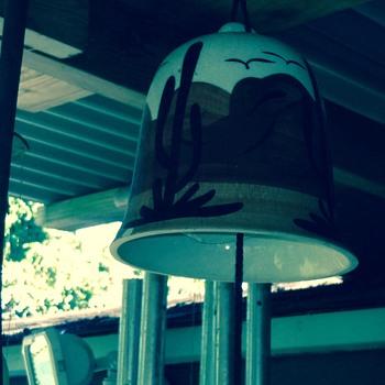 Pottery Bell Chime Signed Oiji AZ - Pottery