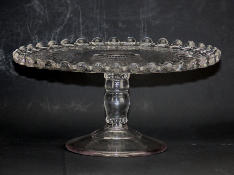 Candlewick Cake Stand c.1890s | Collectors Weekly