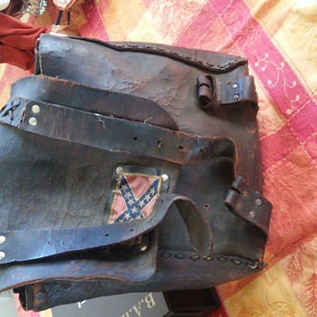 leather pack 1800s - Military and Wartime