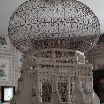 Vintage Tunisian Handcrafted Birdcage