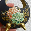Weird Satsuma Crescent Vase