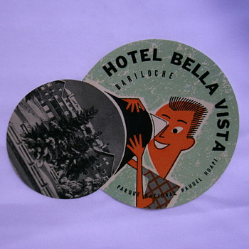 Vintage hotel labels or tags. - Paper