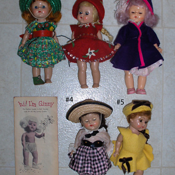 Ginny Dolls from my mom's attic - Dolls