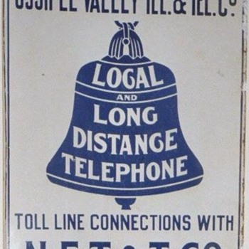 Ossipee Valley Tel. & Tel. Co. Porcelain Sign - Signs
