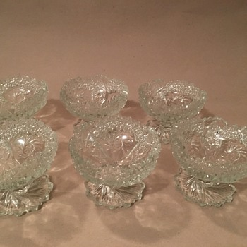 Vintage Sawcut Glass Bowls - Glassware