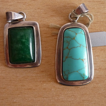Two Pendants and Hand Made Earrings - Fine Jewelry