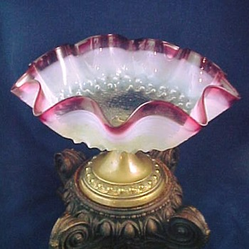 Researching Heckert Art Glass Tazza / Compote from Hosch and the PGM - Art Glass