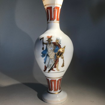 Harrach Etruscan/Horistmus vase C1860? - Art Glass