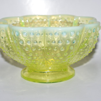 Fenton Lime Green Hobnail Bowl - Glassware