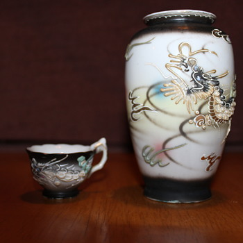 Japanese Vase and tea cup