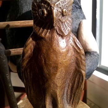 Bronze Great Horned Owl ~ Anybody Recognize The Maker's Mark?