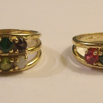 Vintage 14k Ladies Rings with Various Stones