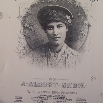 LILY LANGTRY WALTZES, 1883 SHEET MUSIC,THEATER STAR, JUDGE ROY BEAN OBSESSED WITH HER! - Music Memorabilia