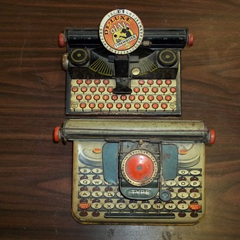 TOY DIAL TYPEWRITERS