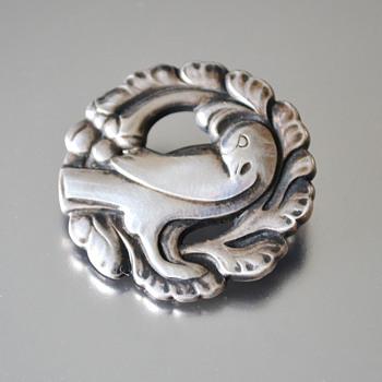 Georg Jensen Vintage Sterling Silver Dove brooch #134