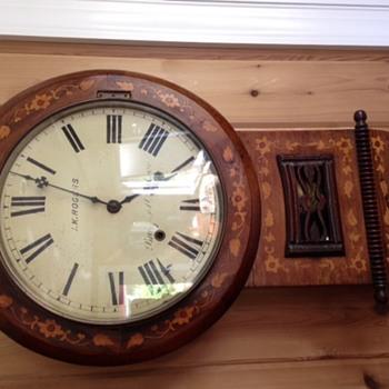 British Drop Dial Clock circa 1872 - Clocks