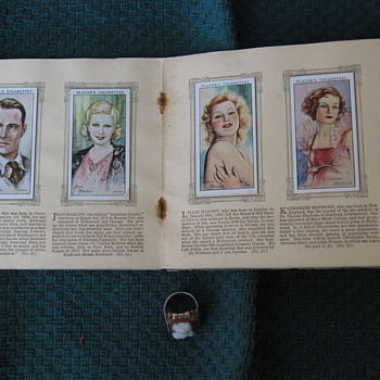 Players Cigarette Cards MOVIE STARS 1930's Album from Biscuit Tin - Movies