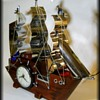 Vintage UNITED BOAT / SHIP CLOCK - w/Lights