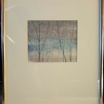 Original Water Colour Painting by Carolyn Talbot Hoagland - Mid-Century Modern