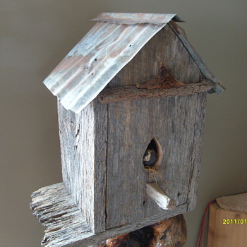 My Old Bird House - Folk Art