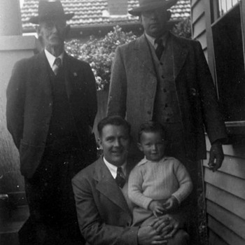 4 Generations of Men-G.GF.-GF.-Father-Brother. - Photographs