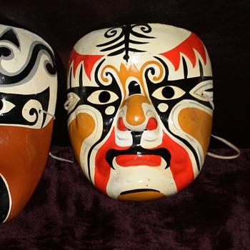 Japanese [?] Masks i found at the flea market yesterday