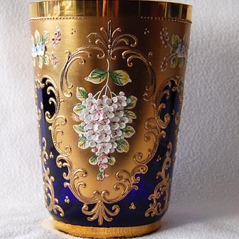 Blue Vase -- Need Member's Help @ ID - Moser/Nippon??? - Art Glass