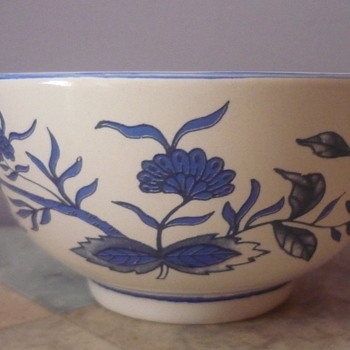 Little Blue Flower Bowl - Pottery