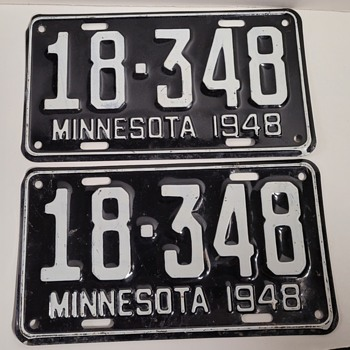 1948 Minnesota License Plates  - Classic Cars