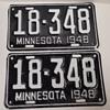 1948 Minnesota License Plates