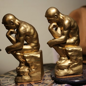 The Thinker - Pair of Bookends